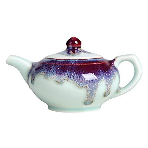 Cafetière Théières Céramique Teapot Couleur Glaze Kiln Change Home Thé À Thé GAOFENG (Color : Shih Tzu pot, Size : 190ml)