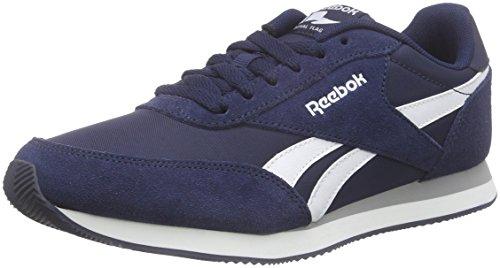 Reebok Royal Classic Jogger 2, Jungen Laufschuhe, Blau (Collegiate Navy/White/Baseball Grey), 36.5 EU (4.5 Kinder UK)