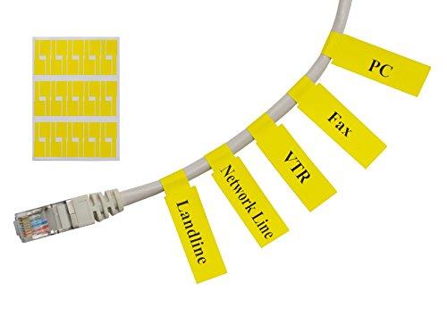 Meta-Label® (20 Blatt, 600 Etiketten) gelb Selbstklebend Kabeletikett - Wasserdicht | Reißfest | Haltbar - mit Online Drucken Werkzeug - Für Laserdrucker