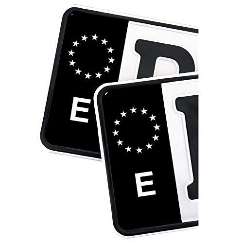 2 pegatinas para matrícula de la UE, color negro (R059 Espa