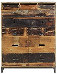 CAMINO A CASA–Buffet hoch industriellen 11Schubladen Holz UND Stahl Woodland