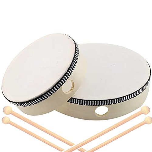 2 Pieces Children's Percussion Tambourine, Percussion Wood, Wood Frame...