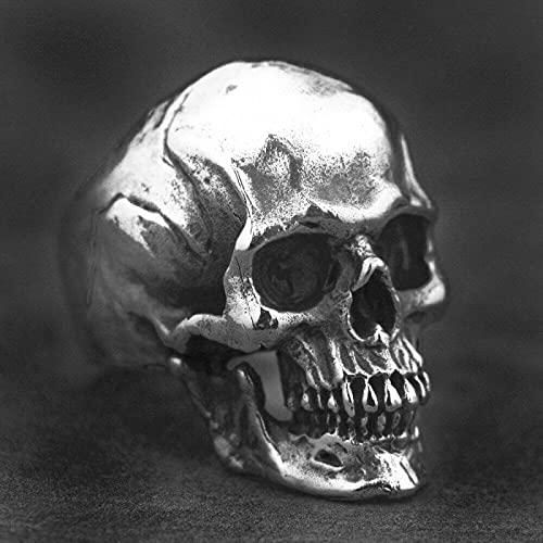 Halloween Gothic Steam Punk Ring - Vintage Horror Demon Skull Ring, Apilable Hip Hop Rock Biker Unisex Anillo Apilable, Hombres Y Mujeres, Calavera, 8