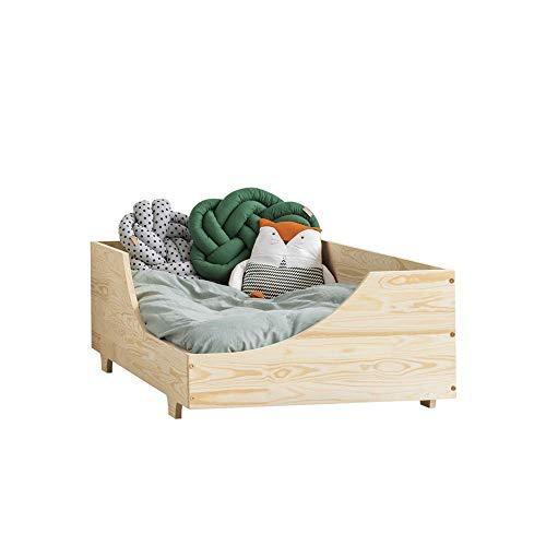Selsey David - Kinderbett aus Holz mit Lattenrost Kokos-Matratze und...