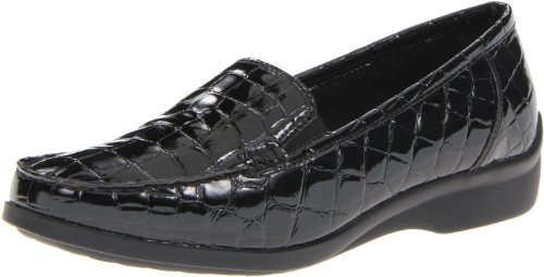 Aravon Women's Whitney, Black Croc, 9 B US