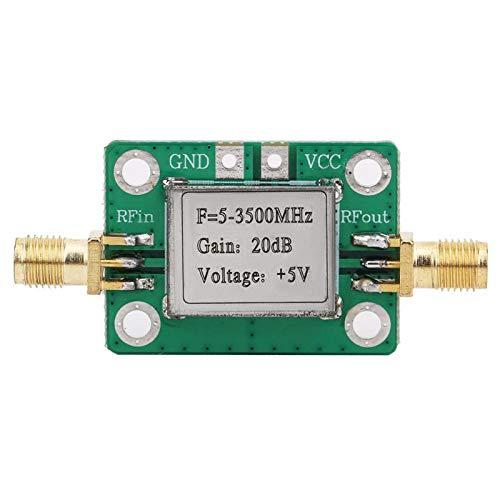 BWLZSP Módulo Amplificador RF, Placa LNA 5-3500MHz Módulo de Placa amplificadora de señal de Banda Ancha RF con blindaje