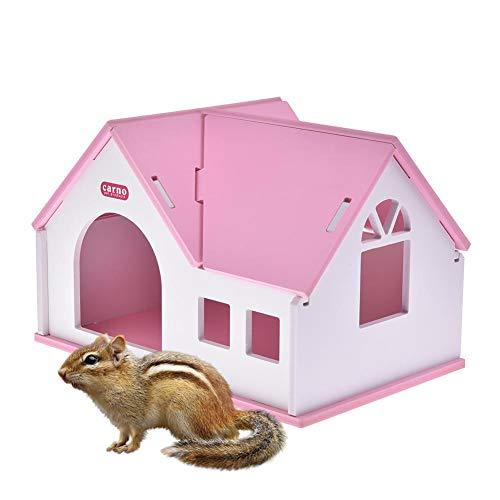 jaspenybow Piccola casa per criceti Ricovero per Animali Domestici Criceto Dorato Comodo Caldo per la Villa Scheda Ecologica in Legno