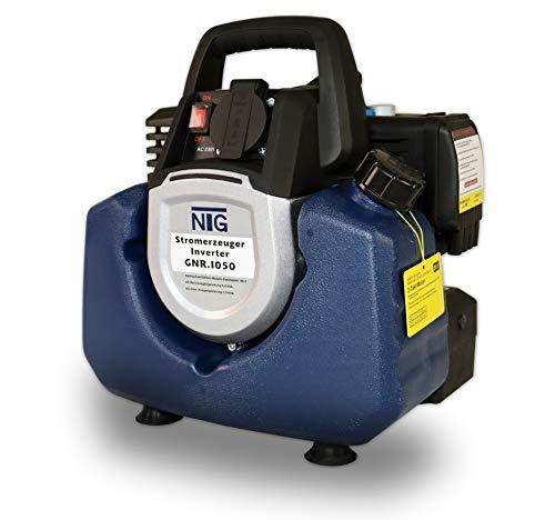 Stromerzeuger GNR.1050, Strom Generator, Benzin, 3l Tankvolumen, 8,5 Kg, Stromaggregat, 2-Takt Motor, Inverter Stromaggregat, mit Tragegriff, Laufzeit bis zu 4h