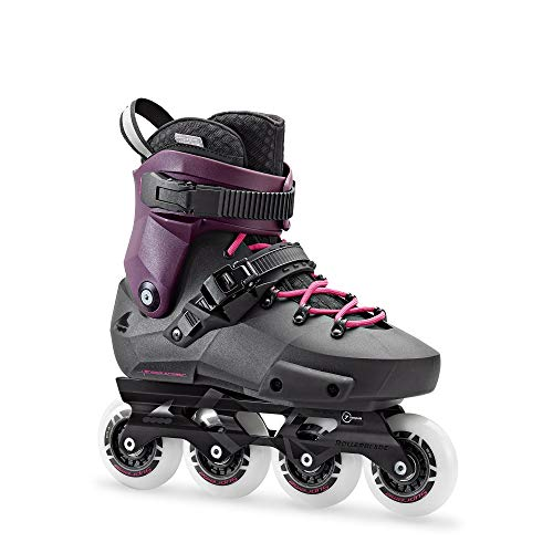 Rollerblade Twister Edge W, Pattini Urban Unisex Adulto, Nero/Viola, 38.5
