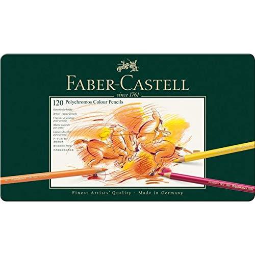 Faber-Castell 110091 Farbstifte Polychromos 120er Metalletui und Bleistifte 9000 12er Metalletui