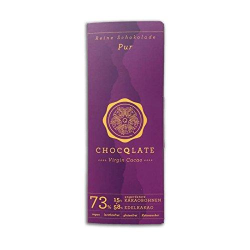 CHOCQLATE Virgin Cacao Schokolade Pur 73% Kakao 70g (bio, teils roh, vegan)