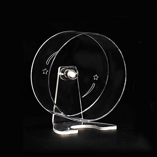 Petzilla Quiet Hamster Exercise Wheel Silent Spinner, Made of crylic, Stand Included (6.7')