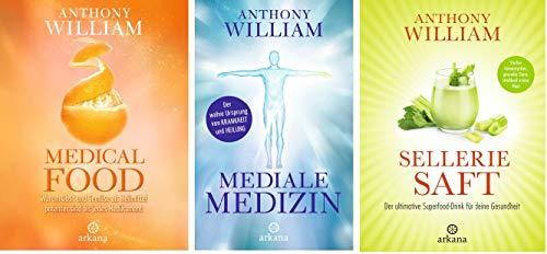 "Das große Anthony William Gesundheits-Set: ""Medical Food"" + ""Mediale Medizin"" + ""Selleriesaft"""