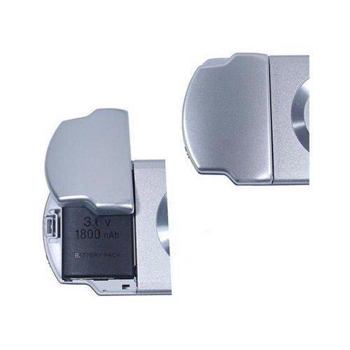 Couvercle de Batterie de rechange - Compartiment arrière batterie pour Sony PSP 2000200120022003200430003001300230033004 Silver