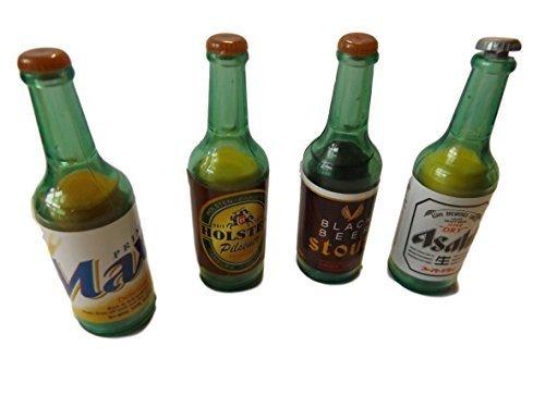 fat-catz-copy-catz Jeu de 4 Nouveauté Collection Style Japonais Bouteilles de vin Boissons Alcool Gommes À Effacer Caoutchouc