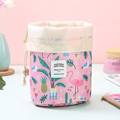 Sac cosmétique Voyage Femmes Maquillage Sacs de Toilette Organisateur Waterproof Femme Stockage Maquillage Sac (Color : Pink Flamingo)