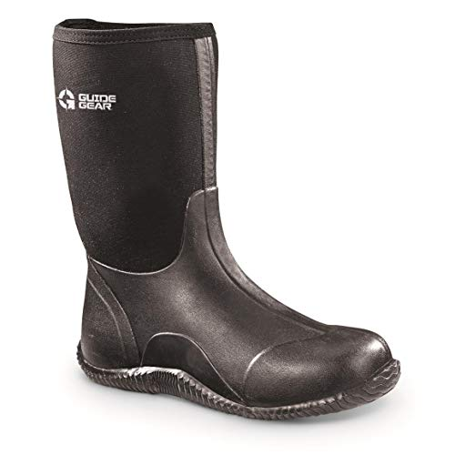 Guide Gear Women's Mid Bogger Rubber Boots, Black, 9B (Medium)