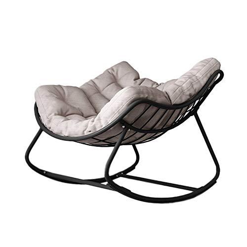 DXYSS Sillón Mecedora Relax Mecedora - Casa e Interiores Habitación Simple Ocio Perezoso de sillón reclinable Mecedora, Amarillo (Color : Black)