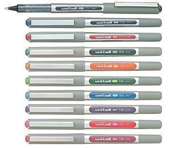 10 COLOURS Pen uni-ball Eye Fine, 0.4 mm Medium, UB-157 UB157 Set alle 10 Farben Sortiment sortiert, Tintenroller Feinschreiber Rollerball Tintenschreiber
