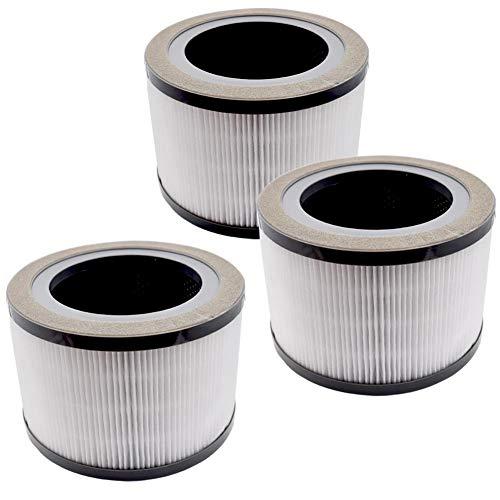 Filtro de repuesto para purificador de aire 200 para Levoit Vista, Prefiltro de Nylon 3-en-1, Filtro HEPA Auténtico, Filtro de Carbón Activado de Alta Eficiencia, Vista 200-RF, Paquete de 3