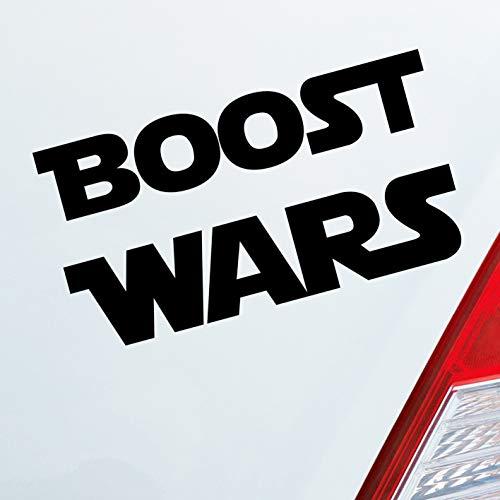 Hellweg Druckerei Auto Aufkleber Boost Wars Turbo Nitro Krieg Race Rennen Car Sticker Fun Folie Schwarz Glanz