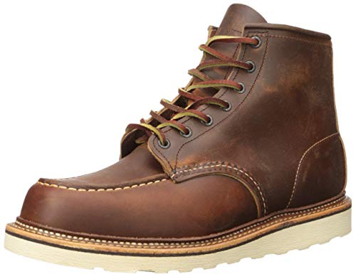 Red Wing Heritage Men's Classic 1907 6-Inch Moc Toe Boot,Copper Rough & Tough,10 D US
