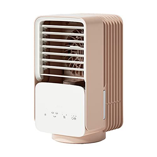 XHMJ Mini acondicionador de Aire, Material ABS, Ajuste de Velocidad de Viento de Tres Niveles, bajo Nivel de Ruido Recargable, Adecuado para dormitorios, etc, 5.4x5.5x10 White