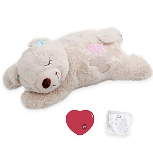 Hund Herz Beat Spielzeug Welpe Verhaltenshilfe Spielzeug Herzschlag Plüsch Spielzeug für Haustier Plüsch Welpen Spielzeug - Plüschbär
