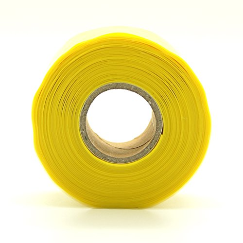 Siliconen Slang Stretch & Seal Tape Radiator Slang Reparatie waterdichte bedrading 25mm 3m Geel