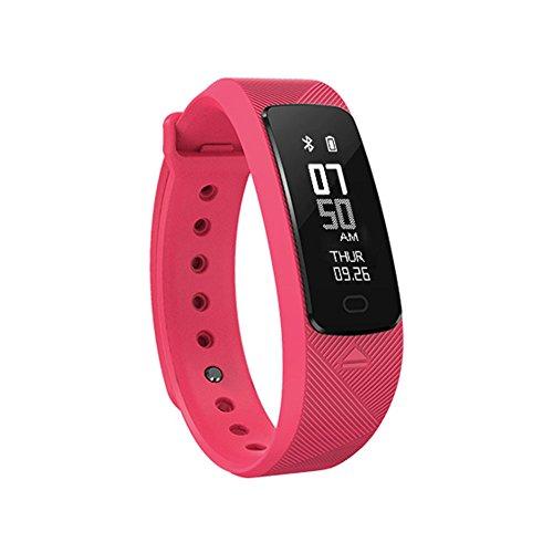 Fitness Tracker Smartwatch SMAWATCH 0.91' Impermeabile Bluetooth 4.0 Smart bracciale frequenza cardiaca pressione sanguigna Monitoraggio del sonno attività Tracker pedometro orologio per Android IOS Phone