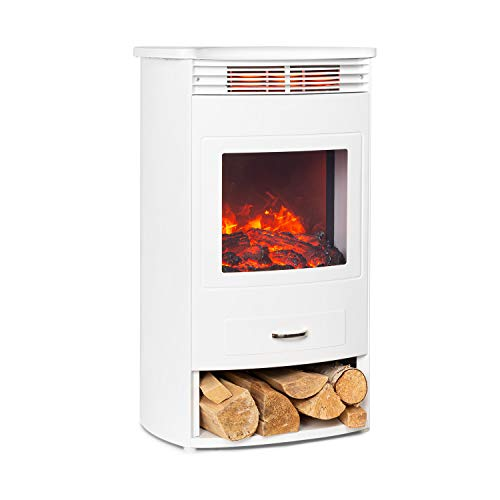 KLARSTEIN Bormio - Cheminée électrique, 950/1900 W, Thermostat, minuterie hebdomadaire, OpenWindow Detection, Simulation de Flamme:...