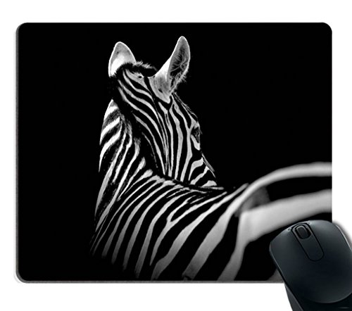 Zebra Mouse Pad by Smooffly, Black & White Zebra Mouse Pad Rectangle Non-Slip Rubber Mousepad Gaming Mouse Pad