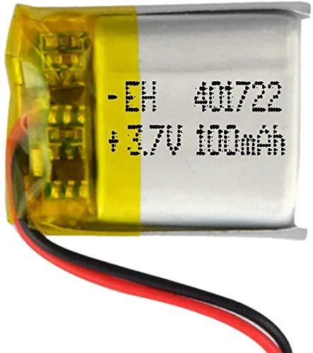 DronePost Batteriea 401722 LiPo 3.7V 100mAh 1S Wiederaufladbar Handy Tragbar Video Licht Led GPS (3.7V|100mAh|401722)