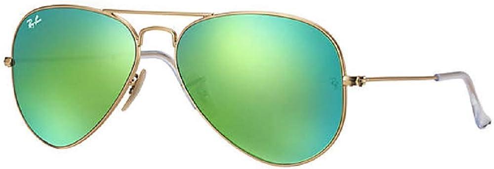 Ray Super sale Ban Aviator Bombing new work Sunglasses RB3025 112-19 Gold Matte Frame Green