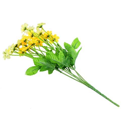 dfghszedtgs 1 Manojo de Margarita Artificial Flor Planta Bouquet Craft Home Garden Party Decor