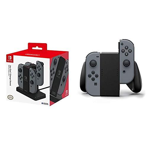 Hori Stand di Ricarica per 4 Joy-con - Nintendo Switch & Nintendo Switch Joy con Comfort Grip (Nero) [Edizione: Regno Unito]