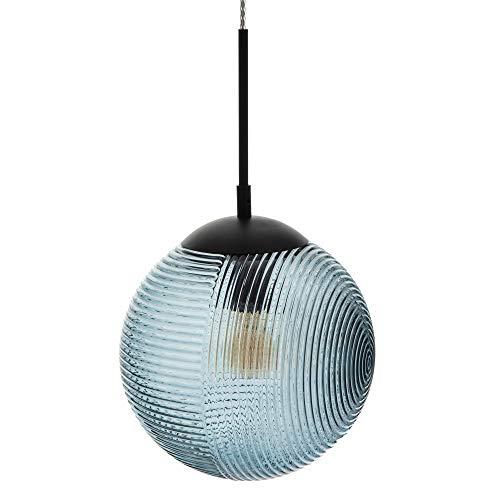 Lámpara de techo con tulipa bola de cristal y metal azul oscuro de Ø 25x43 cm - LOLAhome