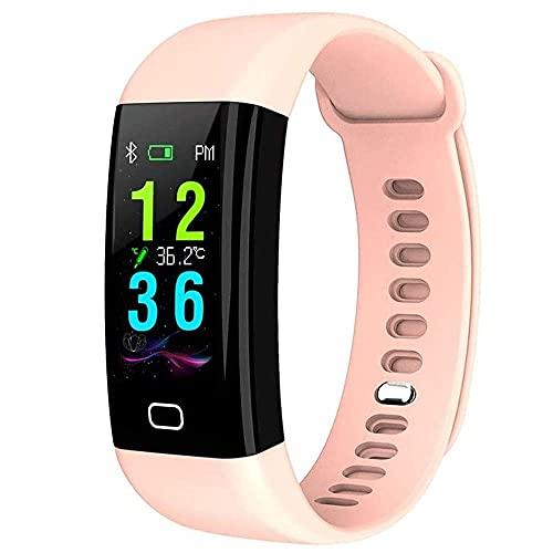 LITINGT Reloj Inteligente, Reloj Inteligente con Carga USB con Monitor de frecuencia cardíaca, podómetro a Prueba de Agua IP68, rastreadores de Actividad física con Pantalla táctil de 0,96 Pulgadas,