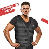 Portzon Adjustable Weighted Vest, 10lbs, 15lbs, 20lbs Comfortable Thin Steel Running Vest, Black...