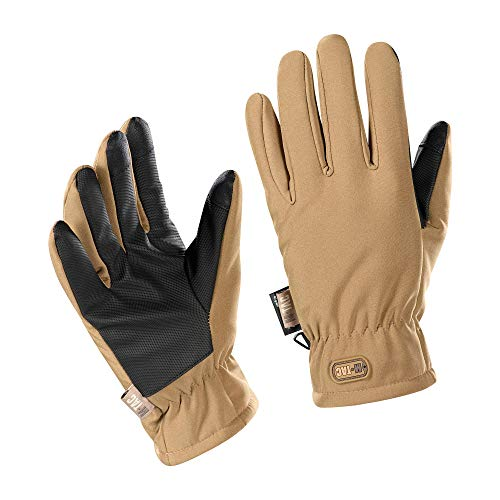 M-Tac Tactical Winter Soft Shell Gloves Water Resistant Insulated Army Military (Coyote Brown, M)