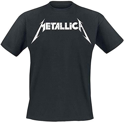 Metallica - Distressed Logo - Oficial Camiseta para Hombre