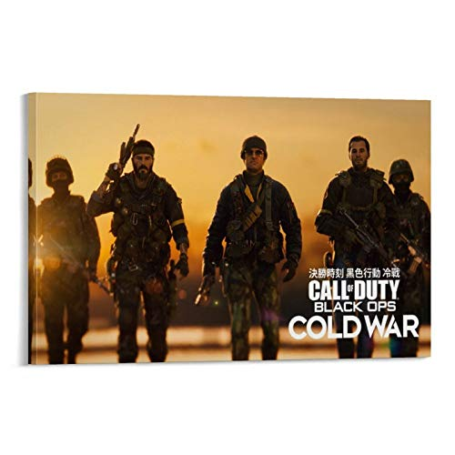 XIAOTT Póster de videojuegos de Call of Duty Black Ops 5 sobre lienzo y arte de pared, impresión moderna, para decoración de dormitorio familiar, 60 x 90 cm