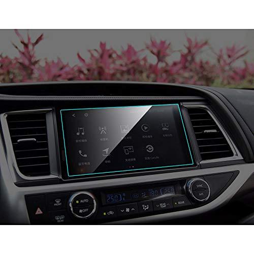 HCDSWSN Protecteur d'écran de Navigation GPS de Voiture, pour Toyota Highlander 2015 2018 Film de Protection en Verre trempé intérieur Accessoires de Voiture