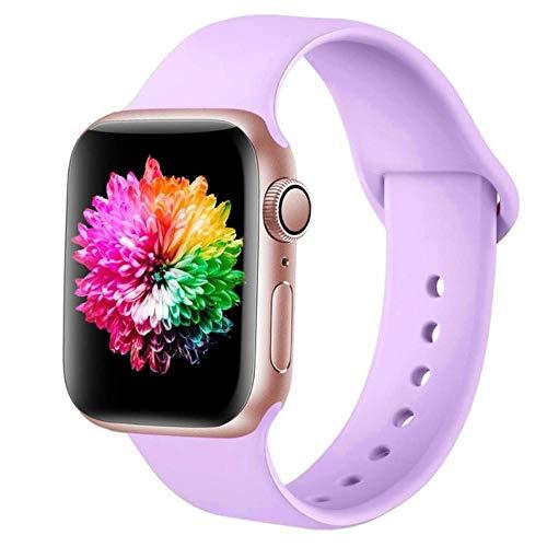 MAPPE Cinturino Sportivo per Apple Watch 38Mm 42Mm per Iwatch Series 6 5 4 3 Cinturino in Silicone con Cinturino per Cinturino Apple Watch 40Mm 44Mm, Cina, Lavanda