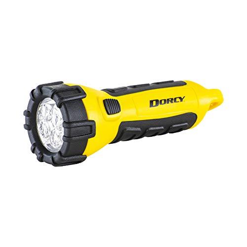Dorcy 41-2510 Linterna LED flotante y resistente al agua con mosquetón, 32 lúmenes, acabado amarillo…