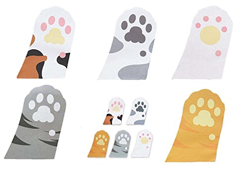 Megrocle Lovely Cartoon Kitty Cat Sticker Cute Cat's Paw Self-Stick Notes Self-Stick Note Pads Memo Flag Sticky Notes Scratch Pads, 6 pads,30 Sheets/Pad