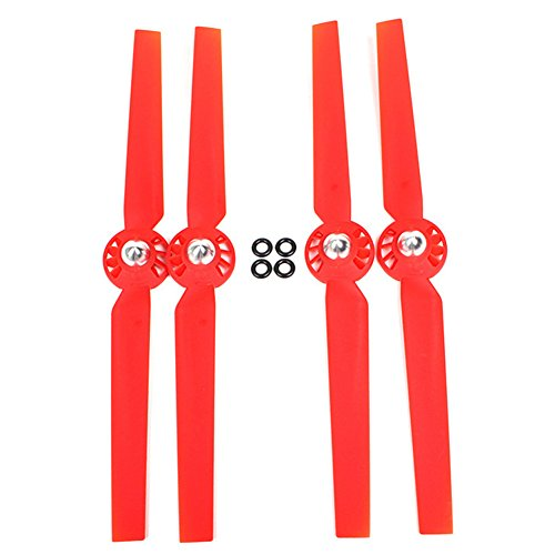 eoocvt 2 Pairs Propeller Rotor Blade Sets A and B for YUNEEC Typhoon G Q500 Q500+ Q500 4k RC Quadcopter Drone - Red