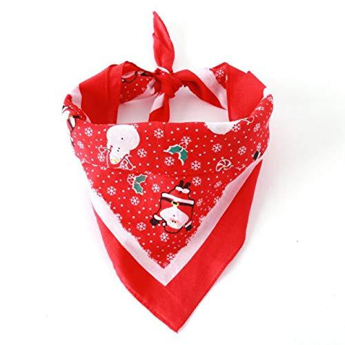 Double-layer cotton plaid Dog Bandana Collar Scarf Bib Grooming Accessories Triangular Bandage Collars best gift for Pet-BCVBFGCXVB(red)