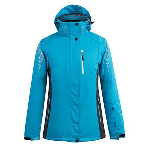 Hbao Damen Herren Skibekleidung Snowboardjacke Hose Unisex Skibekleidung Winddicht und wasserdicht Outdoor Sportswear Liebhaber Winter (Color : Blue, Size : XX-Large)