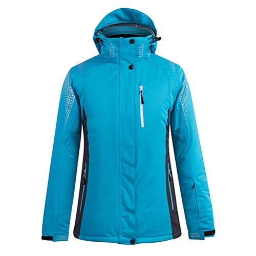 Hbao Damen Herren Skibekleidung Snowboardjacke Hose Unisex Skibekleidung Winddicht und wasserdicht Outdoor Sportswear Liebhaber Winter (Color : Blue, Size : XX-Large)